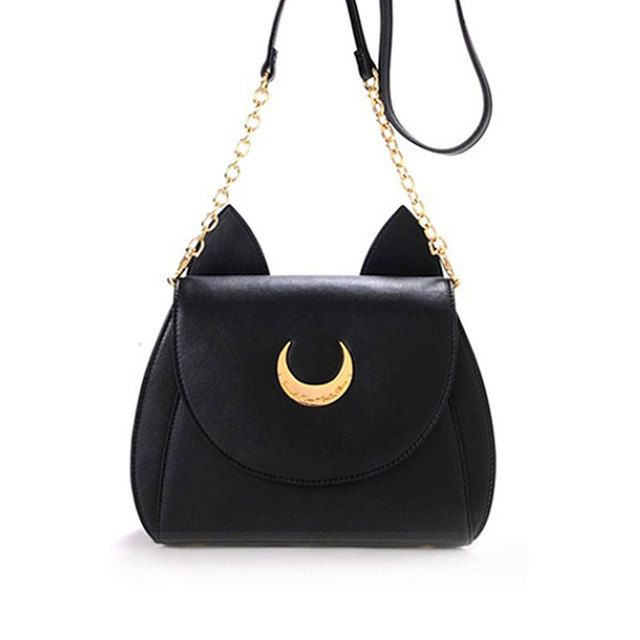 Women Messenger Bags Black Cat Shoulder Bag Luna Crossbody Bags for Women Mini Cartoon Sailor Moon Bag Bolsos Mujer