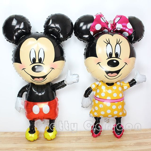 Hot Large mickey balloons Minnie Mouse Airwalker helium Balloon Mickey Mouse balloon minnie mouse&mickey mouse party supplies