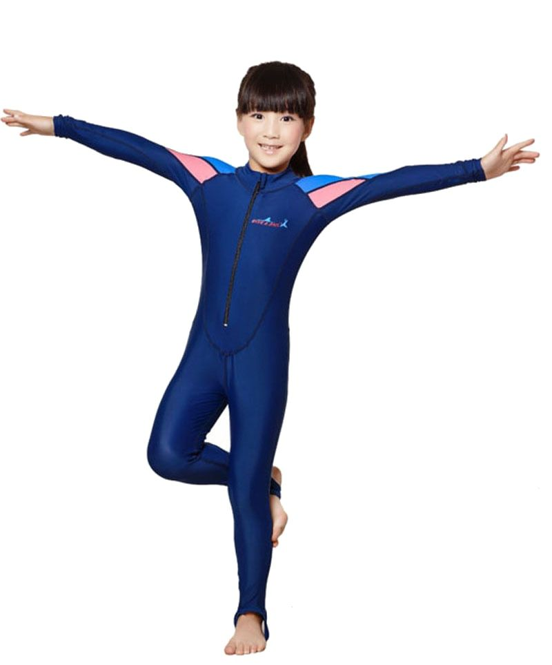 swimming dress Kids boys girls snorkeling clothing children's sun protection clothing child diving suit wetsuits