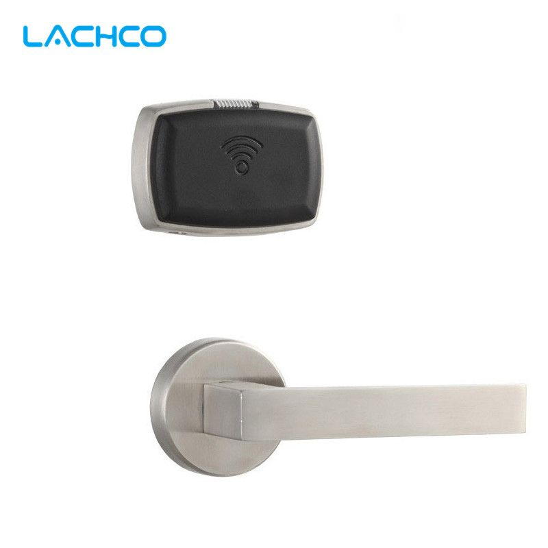 LACHCO Smart Electronic Door Lock RFID Card with Key Lock For Home Office Hotel Room Split Design  L16063STC