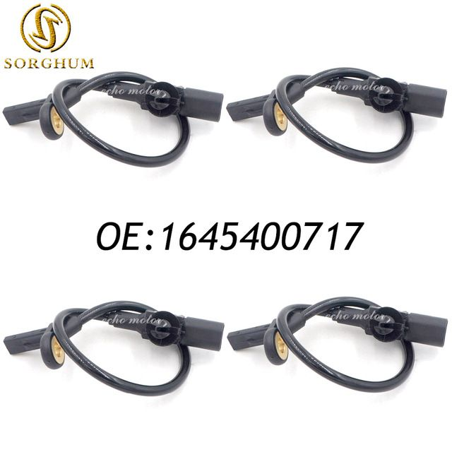 New 4pcs 1645400717 Rear Left Right ABS Wheel Speed Sensor For Mercedes-Benz ML320 ML350 R350 GL320