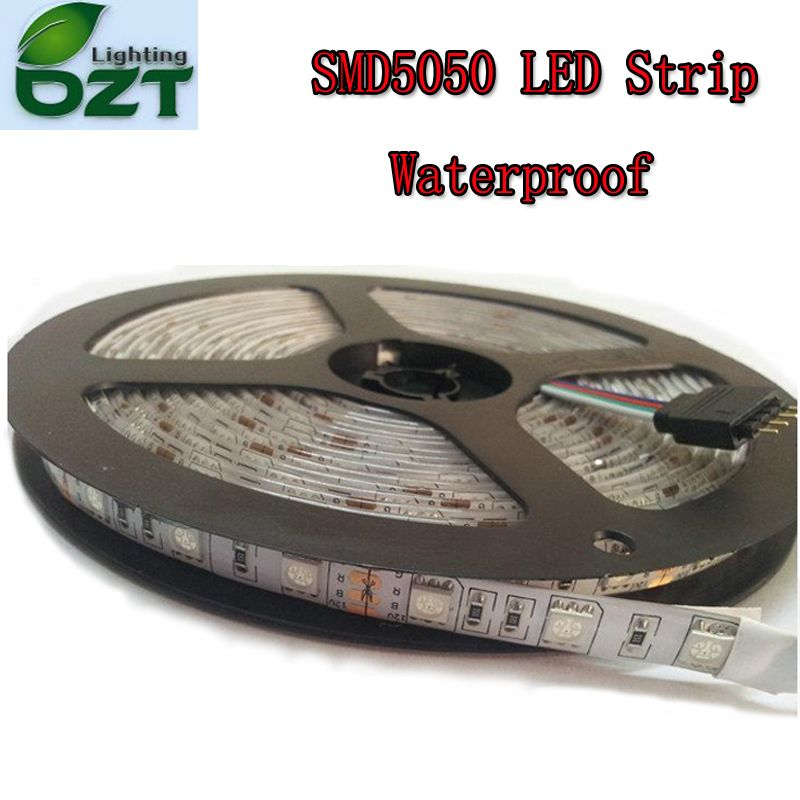 5m 300 LED SMD5050 Waterproof 12V flexible light 60 led/m,6 color LED strip white/warm white/blue/green/red/yellow