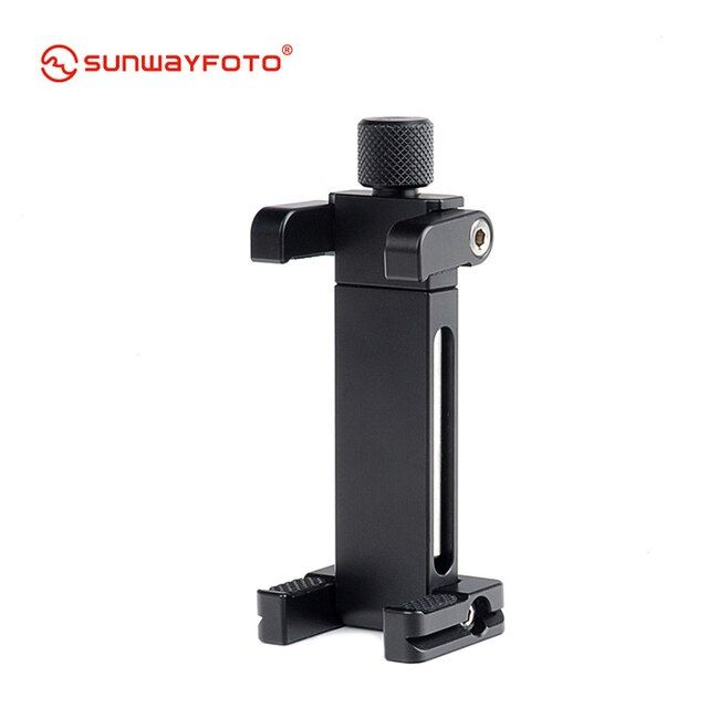SUNWAYFOTO CPC-02 Mobile Phone Accessories Professional Desk Mobile Phone Clamp & Stand Professional Tripod Phone Holder Bracket