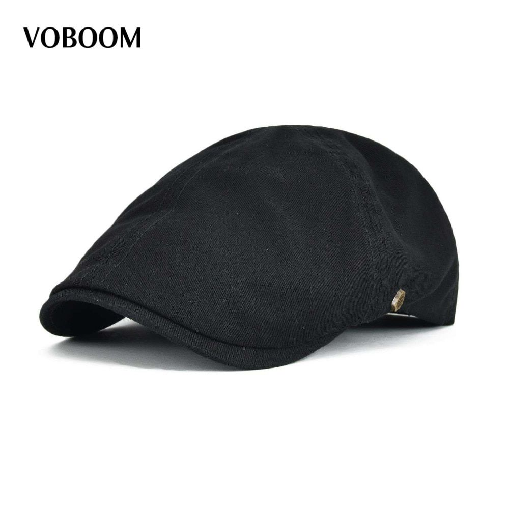 VOBOOM Cotton  Ivy Flat Cap Berets Spring Summer Men Women Solid Casual Driver Cooker Retro Male Female Boina 063