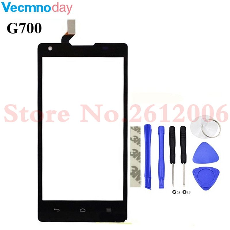 Vecmnoday For Huawei G700 Touch Screen Digitizer Glass Lens sensor replacement parts For Huawei Ascend G700 touch panel+tools