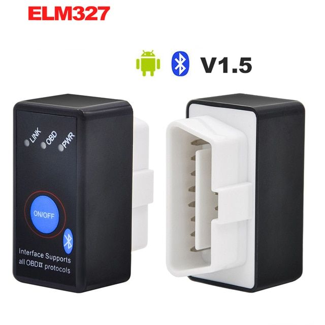V1.5 diagnostic tool MINI ELM327 Bluetooth Power Switch ELM 327 Version 1.5 OBD2 OBDII for Android Torque Car Code Scanner