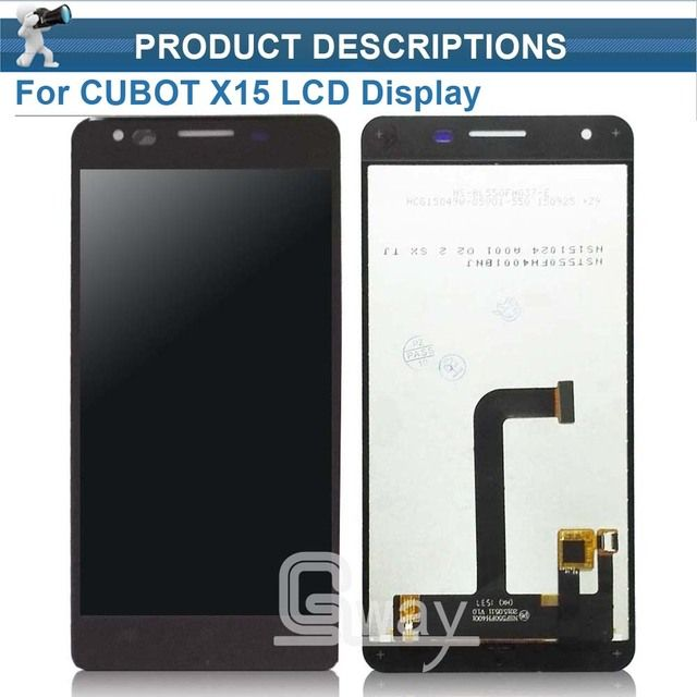 Black Cubot X15 Original LCD Display Screen and Touch Screen Assembly Repair Parts For Cubot X15 Cell Phone