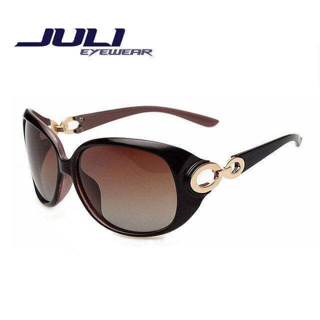 JULI New Women Sunglass Fashion Sun Glasses Polarized Gafas Polaroid Sunglasses Women Brand Designer Driving Oculos 122C