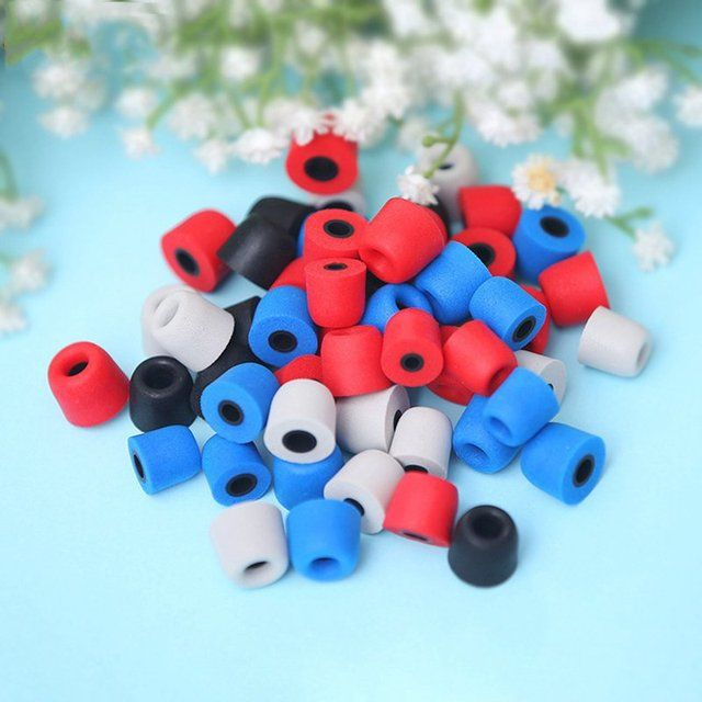 10pcs Portable Memory Foam Earplugs Earphones Gel Sets PU Slow Rebound Sponge Earplugs Earplugs Inert Replaceable Color Redom