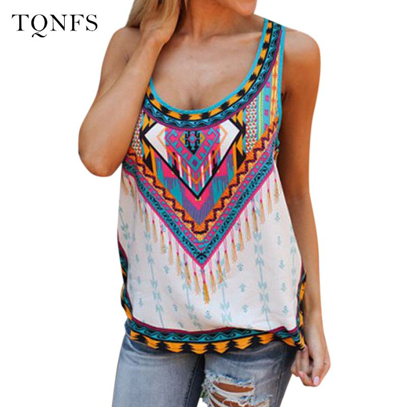 TQNFS Fashion Women Summer Elegant print T-shirt Basic O-neck sleeveless Shirts Casual Slim Brand Tops Female T Shirt Plus Size