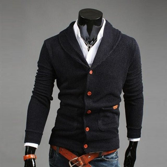 Long Sleeve Kintting Shirts 2016 Spring Autumn New Men Fashion Casual Cardigan Sweater