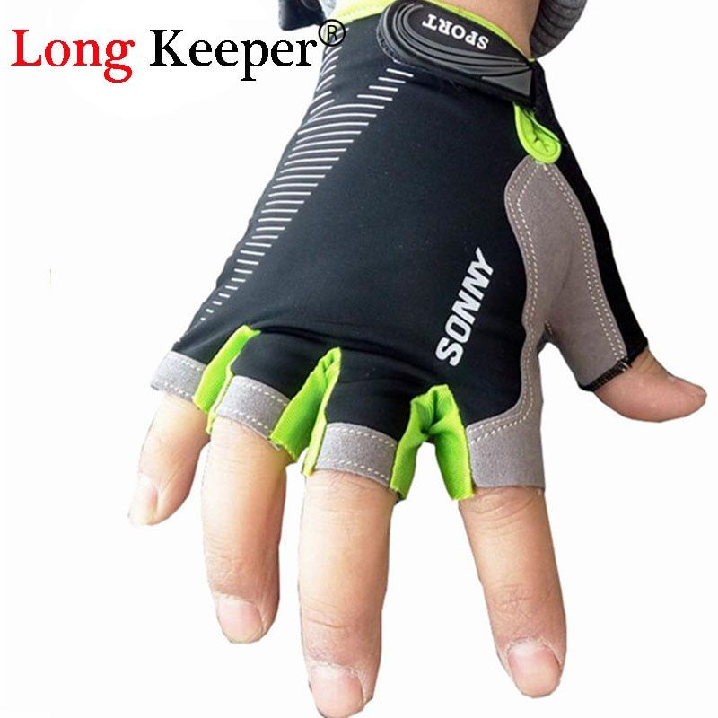 Long Keeper Brand Designer High Quality Gloves Semi-finger Gloves Half Fingerless Mittens Women Workout Fitness Guantes Eldiven