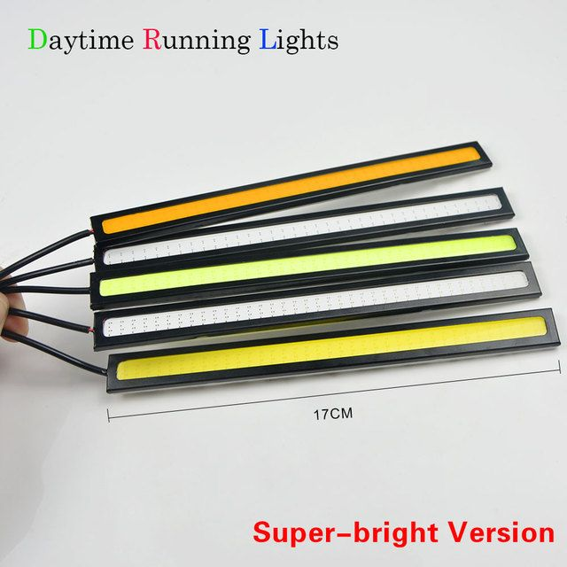 1Pcs Ultra Thin 17cm COB LED Daytime Running light Waterproof Auto Car Bulb Bar Strip Aluminum DRL Driving Fog lamp