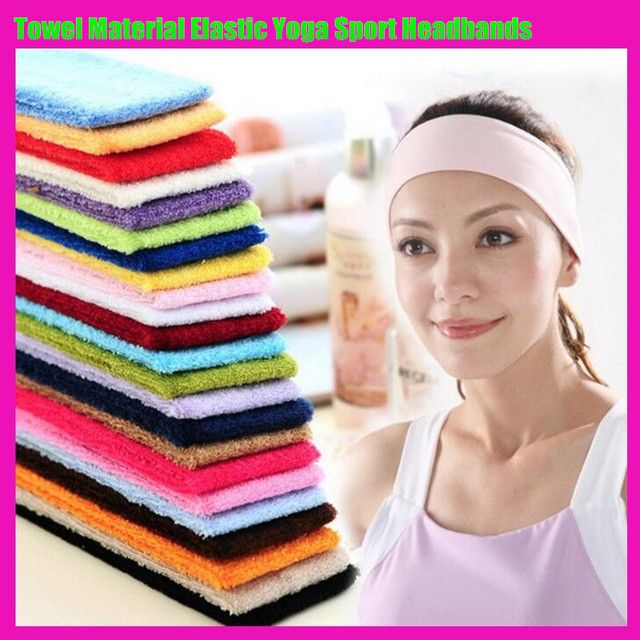 60pcs!Towel Material Elastic Yoga Sport Headbands,Women&Maen Lady Girl&Boy Fashion Pure Color Stretch Hair Band Hair Accessories