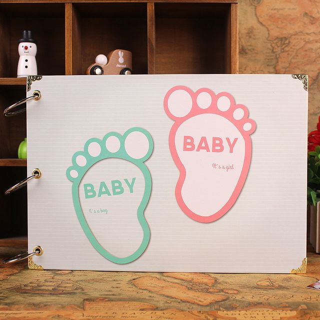 2016 New 10 Inch DIY Paper Photo Album Black Card Type Handmade Baby Lovers Photo Albums Scrapbook Gift 10 Pages