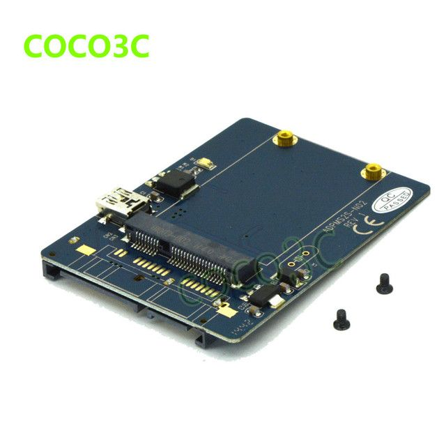 2 in 1 mini PCIe card Test Tool USB 2.0 to mini PCI-e slot card + SATA to MSATA SSD adapter
