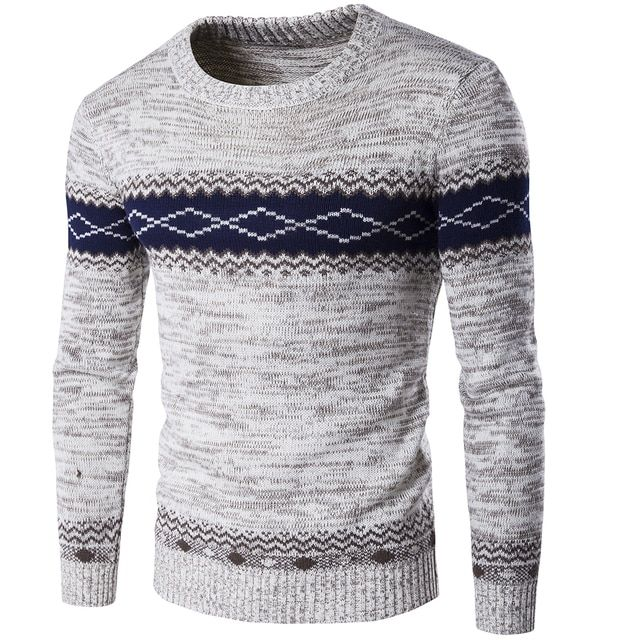 Autumn and winter of 2016 men's knitted sweaters, men's fashion trend.