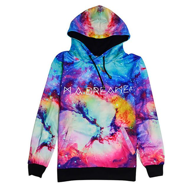 Tie Dye 3D Print Women Sweatshirt Funny Colorful Galaxy Sweat Shirts Pullover Fashion Long Sleeve Female Hoodies Tracksuit