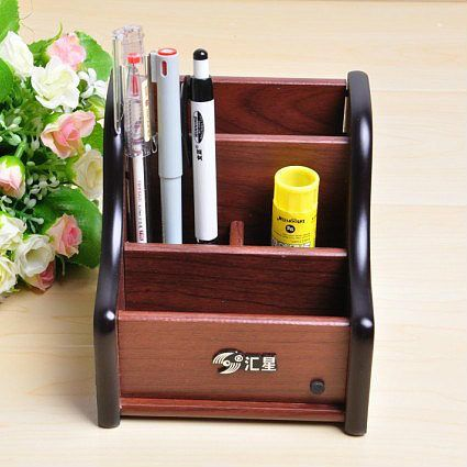 Good Wooden Pen Holder Multifunctional Combination of Pen Holder Maple Wool Europe Style Fantastic Pen Posts Office Pen Stands