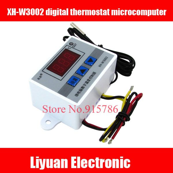 XH-W3002 digital thermostat microcomputer / 12V sensor temperature control switch / digital temperature controller 0.1 Accuracy