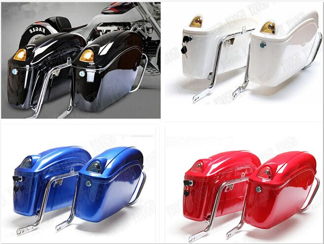Motorcycle Hard Saddlebag Trunk Bag Luggage Tail Light Rail Bracket For Fit Sportster XL883 1200 Dyna Wide Softail