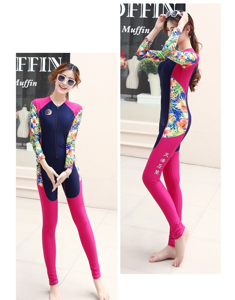 Full Body Swimwear Long Sleeve DivingSuit For Women Fishing Clothing Sport Swimsuit Snorkeling One-piece Surfing Outdoor Wetsuit
