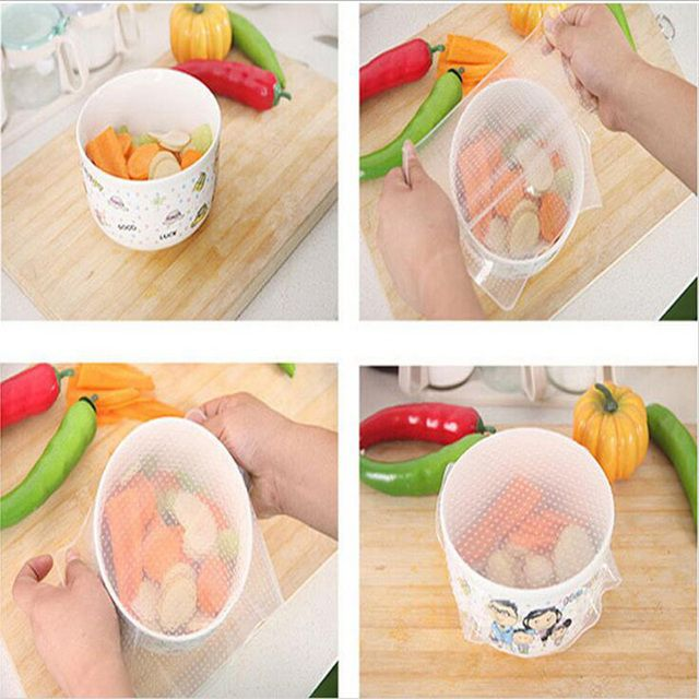 1Pcs Kitchen Supplies Food-grade silicone food fresh keeping wrap film Reusable multifunctional sealing plastic wrap 7z-cx880