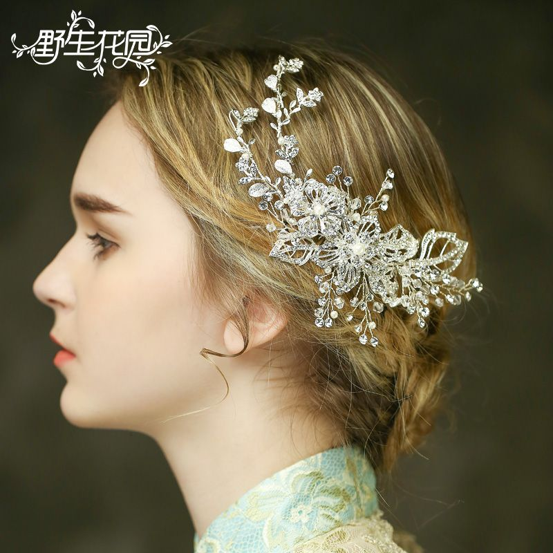Fashion Handcrafted Bridal Hair Combs Wedding Hair Accessories Jewelry for Women Party Headdress Combs Crystals Rhinestone Gift