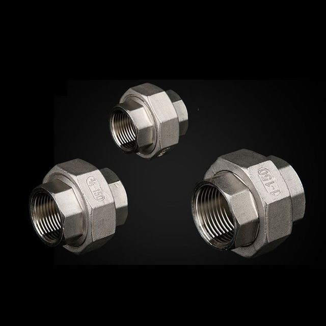 1/4 inch Female BSP Internal Thread 304 Stainless Steel Live Joint Coupling Union Connector Tube Pipe Fitting