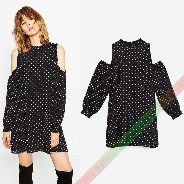 Hot Polyester New Women A-Line Summer casual Dots Dress Vintage Sexy Party Plus Size Ladies Lace Clothing Off The Shoulder 2016