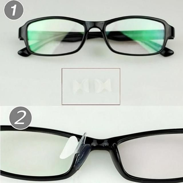 5 pairs/set Practical Optical Glasses Silicone Nose Pads Glasses Plate Frame Non-slip Increased Nose Pads Eyewear Accessories
