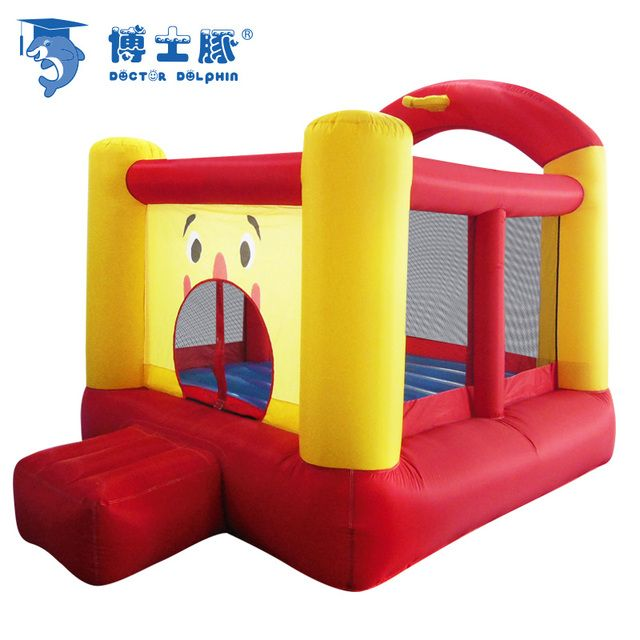 Doctor Dolphin kids clown inflatable trampoline castle  small indoor trampoline & outdoor children's playground