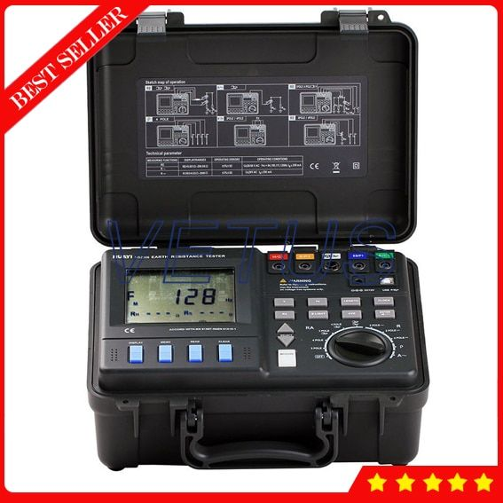 Mastech MS2308 2/3/4 Pole Double Clamp Digital Advanced Ground Resistance Tester