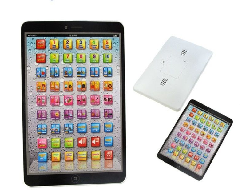 Children's educational simulationp music toys Portuguese& English Language PAD tablet computer learning machine