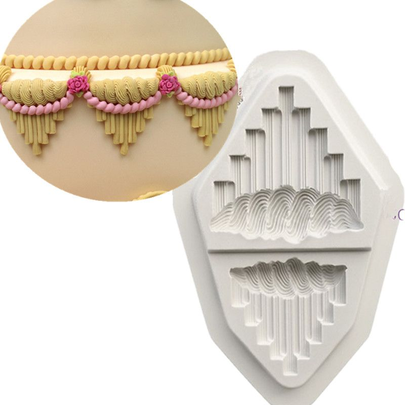 Royal Icing Serrated V's Wedding Cake Decorating Too Silicone Mould Fondant Cake Mold Cupcake Tassel Polymer Clay Molds