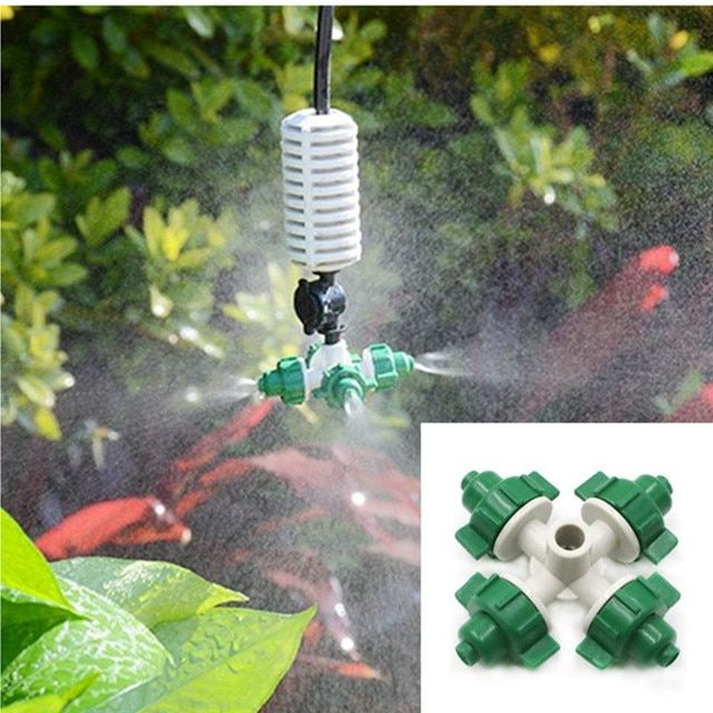 Greenhouse Cross Atomization Micro-spray Humidification Cooling Dust Removal Automatic Wirrigation Equipment Atomizing Nozzle