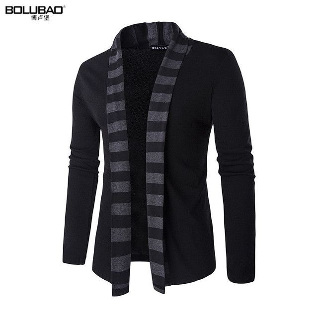 2017 Hot Sale Brand-Clothing Spring Cardigan Male Fashion Striped Slim Fit Sweater Men Casual Mens Sweaters Free Shipping