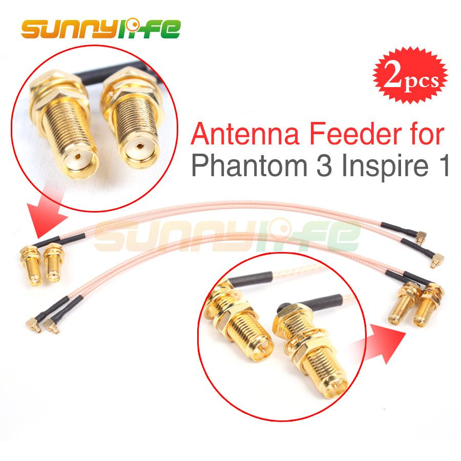 2pcs Phantom 3 Refitting Antenna Feeder Range Extender Accessory for DJI Phantom 3 Inspire 1 Remote Controller