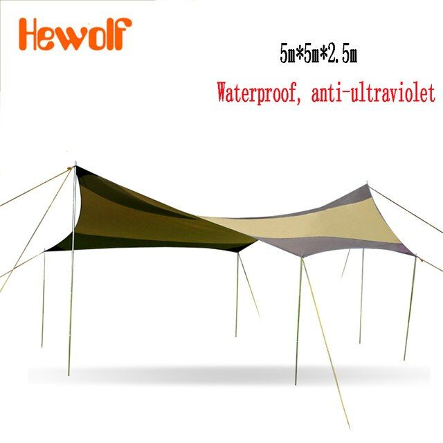 High quality big outdoor pergola anti-canopy awning sun shade super lightweight camping tent 1646