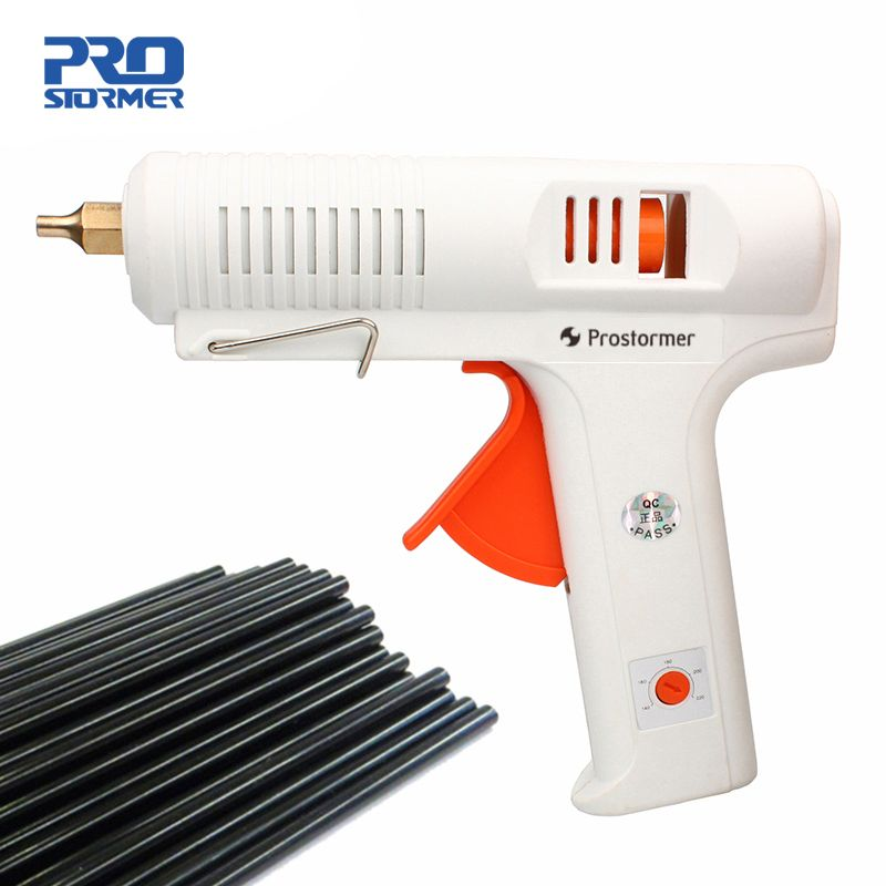 PROSTORMER 150W Hot Melt Glue Gun Industrial Mini Guns Thermo Electric Gluegun 140-220 Degrees Adjustable Temperature Glue Gun