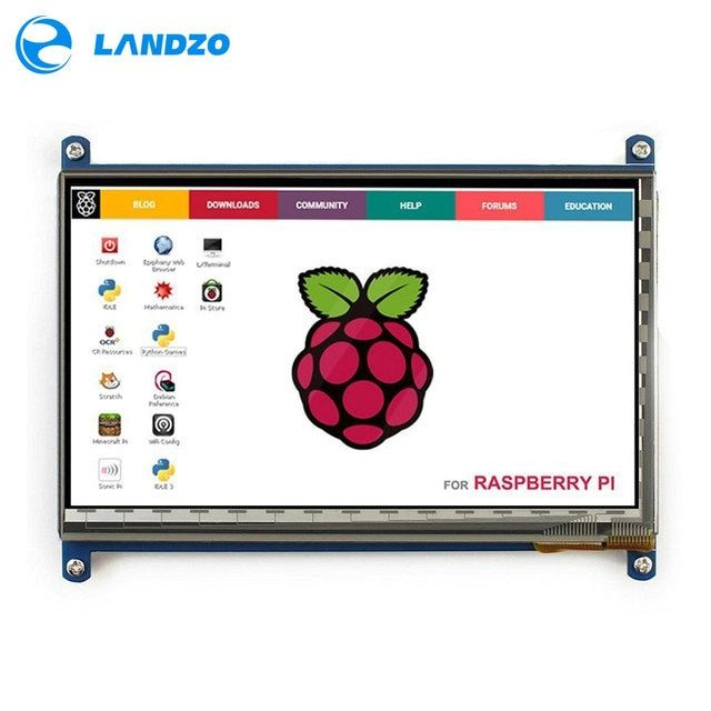 Raspberry Pi 3 Display HDMI 7 Inch 800*480 LCD with Touch Screen Monitor for Raspberry Pi 3 B+/2B Pcduino Banana Pi
