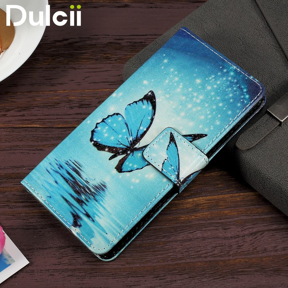 DULCII for Lenovo A6010 Case for Lenovo A6000 Phone Bag PU Leather Flip Cover for Lenovo A 6000 A6010 Plus Protect Shell