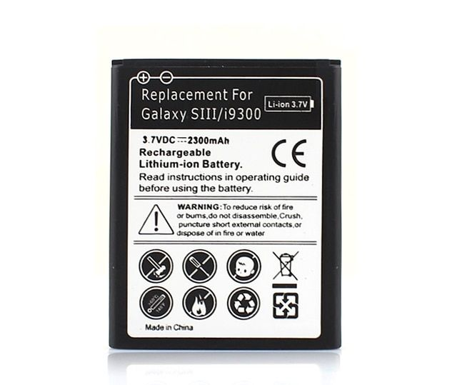 Guaranteed 100% 2300mAh Moblie Cell Phone Battery For Samsung Galaxy S3 S 3 i9300 L710 i747 i535 R530 Free Shipping Wholesale