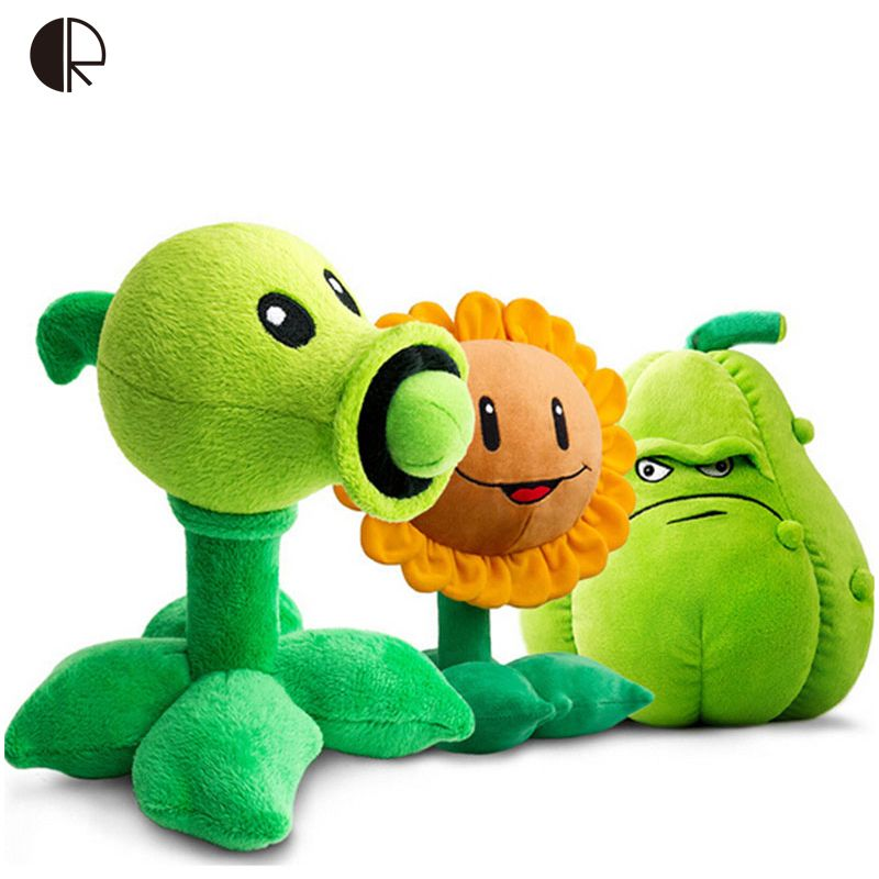 Kids Plush Toys Plants vs Zombies Pea Shooter Sunflower Squash Plush Toy Doll Soft Plush Toy Doll Baby Party Toys peluche HT3265
