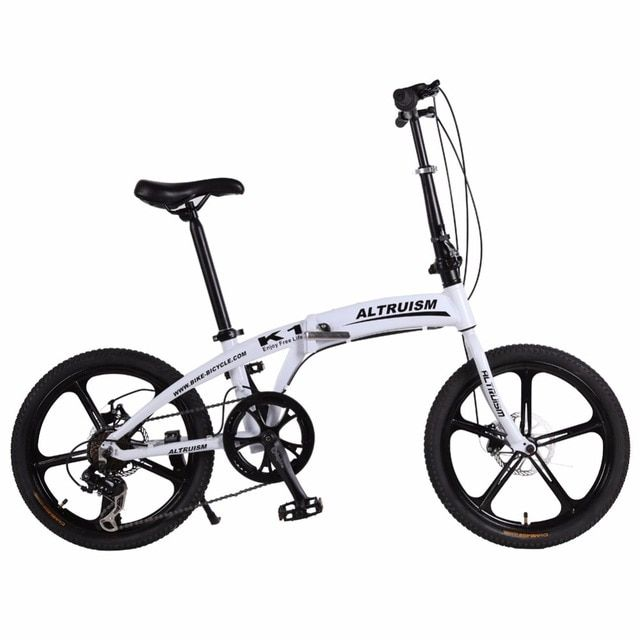 "Altruism K1 Folding Bike 7 Speed Aluminum Mechanical Disc Brake Mountain Bikes Children 20inch Bicycle 20"" 5 Spokes Bicycles"