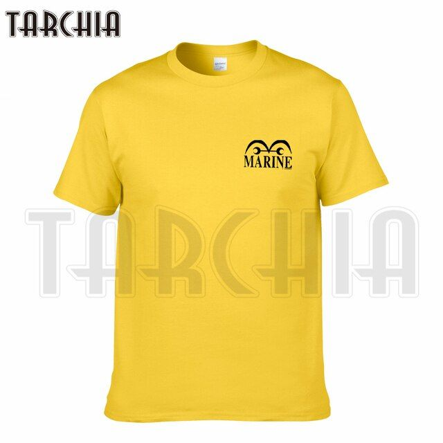 TARCHIA 2019 new brand t-shirt cotton tops tees men Marine Justice one piece anime short sleeve boy casual homme plus