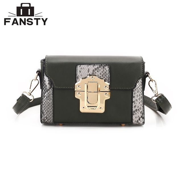 2017 Brand Designer Vintage Woman Messenger Bag Serpentine Snake Patchwork Lady Crossbody Bag Casual PU Leather Female Flap Bag
