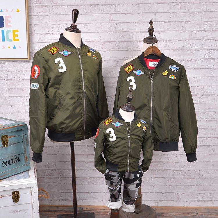 2016 Winter jacket  outerwear family clothing look matching outfit for mother and daughter baseball clothes mother son outfits