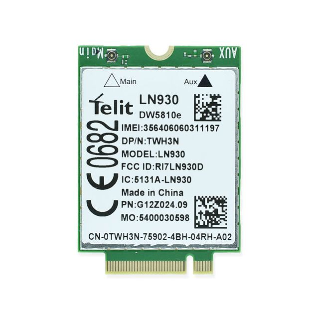 DW5810e Telit LN930 TWH3N NGFF M.2 4G/LTE/DC-HSPA+ WWAN  wireless network Card for Venue 11 Dell laptop