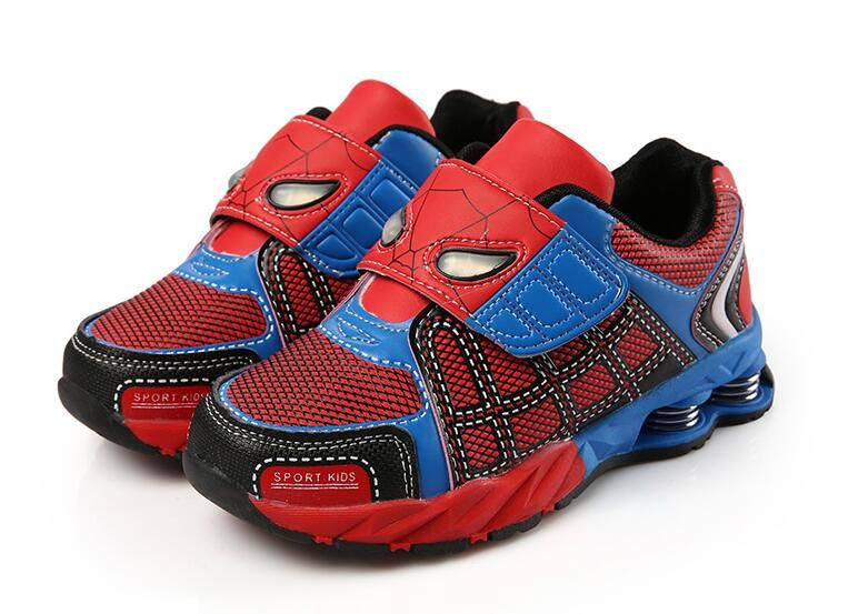 2017 new boy children's sports shoes Spiderman sneakers casual shoes for boys and girls slip breathable kids shoes